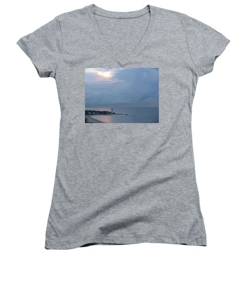 Luminous Lighthouse Women's V-Neck T-Shirt
