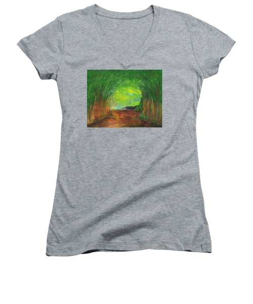 Luminous Path Women's V-Neck T-Shirt