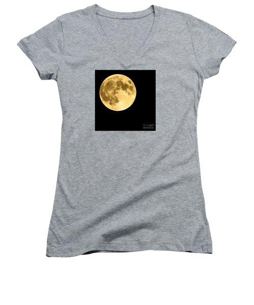 Lunar Close Up Women's V-Neck T-Shirt
