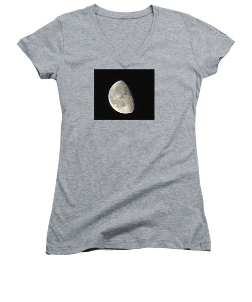 Lunar Delight Women's V-Neck T-Shirt (Junior Cut) by Brian Chase