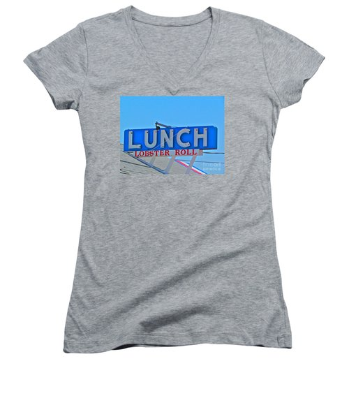Lunch Women's V-Neck T-Shirt