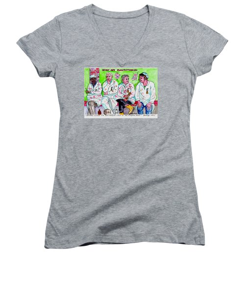 Lunch Break At The Slaughter House Women's V-Neck (Athletic Fit)