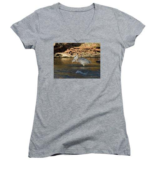 Lunch On The Neuse River Women's V-Neck T-Shirt
