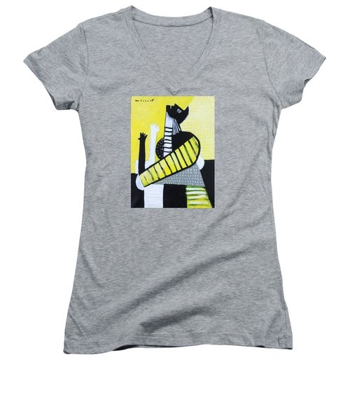 Lux No. 3  Women's V-Neck T-Shirt (Junior Cut)