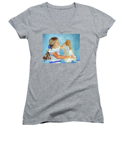 Lydia's 9th Birthday Women's V-Neck T-Shirt
