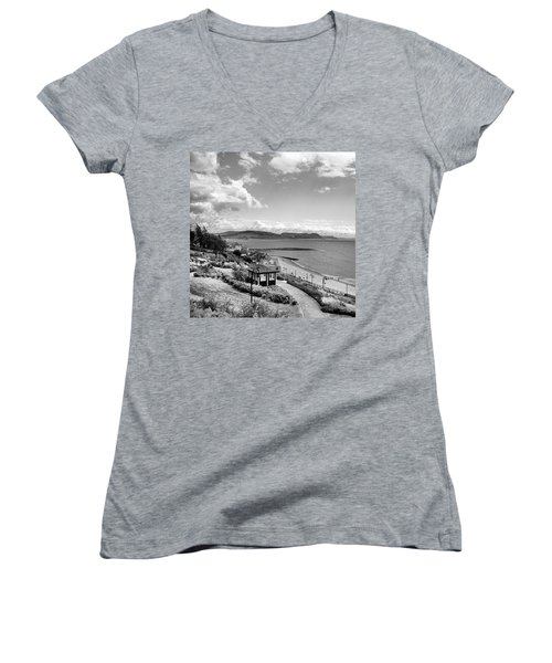 Lyme Regis And Lyme Bay, Dorset Women's V-Neck T-Shirt (Junior Cut) by John Edwards