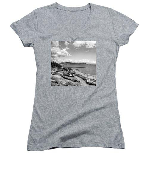 Lyme Regis And Lyme Bay, Dorset Women's V-Neck T-Shirt