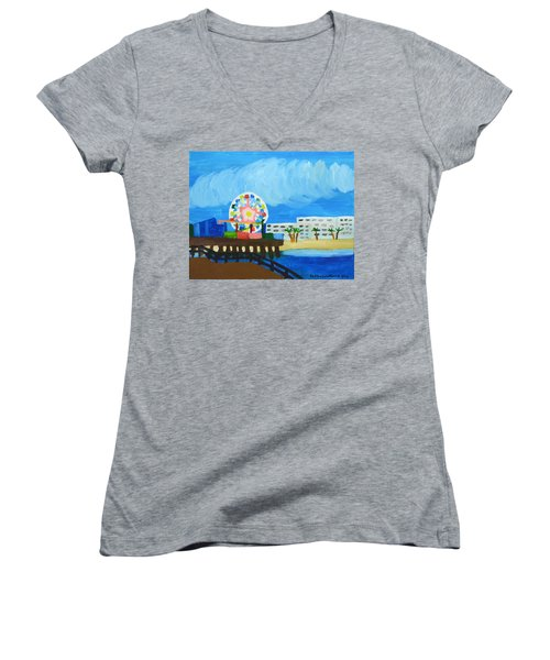 Lyndas Ferris Wheel Women's V-Neck T-Shirt