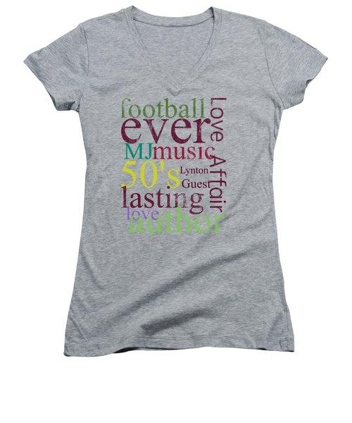 Lynton Guest Women's V-Neck T-Shirt (Junior Cut) by D Francis