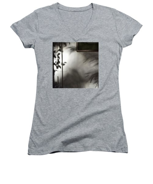 Women's V-Neck T-Shirt (Junior Cut) featuring the photograph Lysiloma Shadows by Kim Nelson
