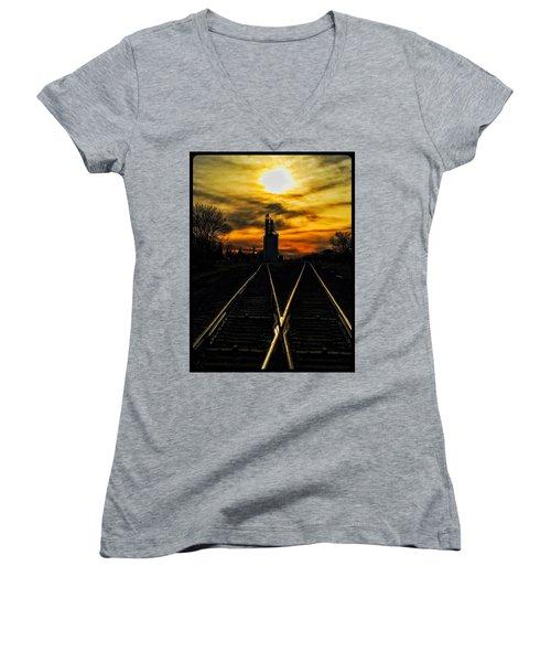 M Track Women's V-Neck T-Shirt
