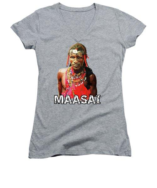 Maasai Moran Women's V-Neck (Athletic Fit)