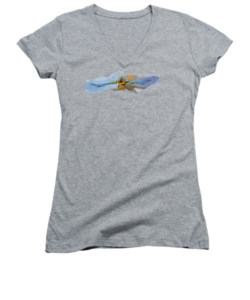 Macaw No 03 Women's V-Neck (Athletic Fit)