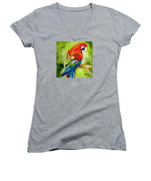 Macaw Tropical Women's V-Neck T-Shirt