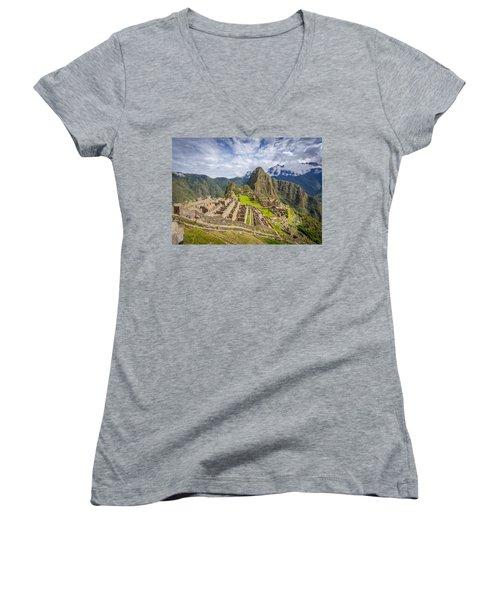 Machu Picchu Peru Women's V-Neck
