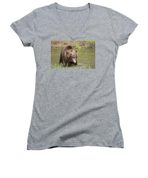 Mad Bear Women's V-Neck (Athletic Fit)