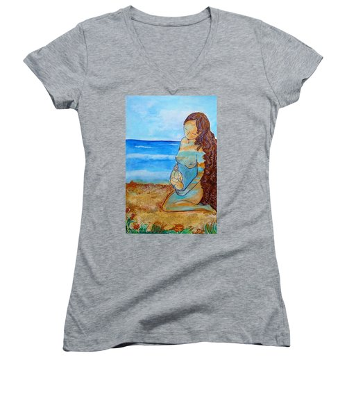 Made Of Water Women's V-Neck T-Shirt (Junior Cut) by Gioia Albano