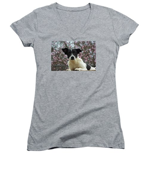 Madison In Spring Women's V-Neck T-Shirt