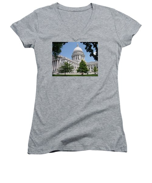 Madison Wi State Capitol Women's V-Neck