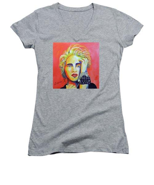 Madonna Women's V-Neck T-Shirt
