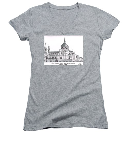 Madrid Cathedral Aimudena Women's V-Neck T-Shirt