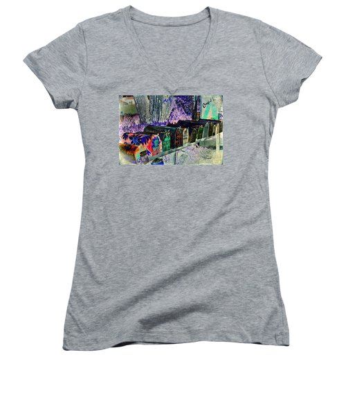 Madrid Mailboxes Women's V-Neck (Athletic Fit)