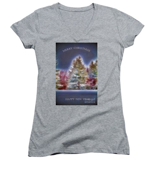 Merrry Christmas And Happy New Year Women's V-Neck