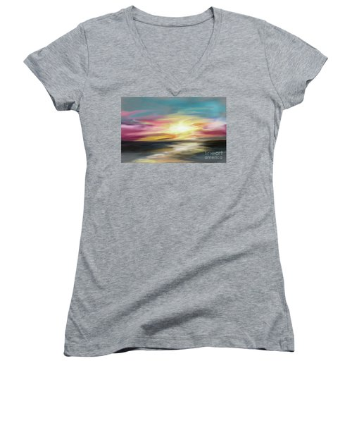 Magenta Sea Women's V-Neck