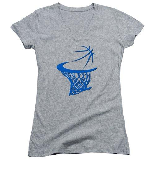 Magic Basketball Hoop Women's V-Neck T-Shirt (Junior Cut) by Joe Hamilton