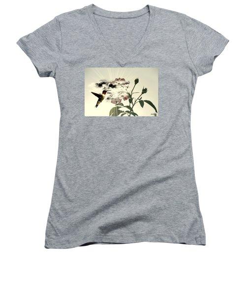 Magic Flower Women's V-Neck T-Shirt