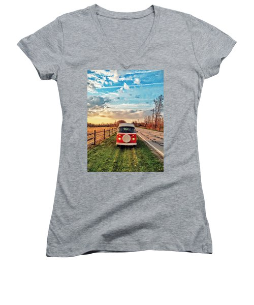 Magic Hour Magic Bus Women's V-Neck