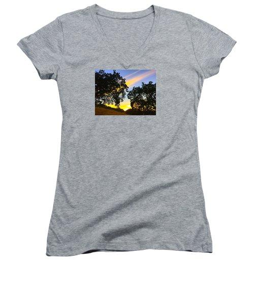Magic Hour Sunset Women's V-Neck T-Shirt