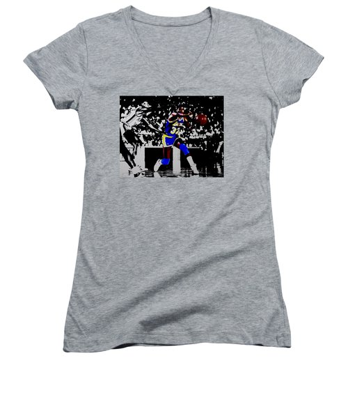 Magic Johnson Bounce Pass Women's V-Neck T-Shirt