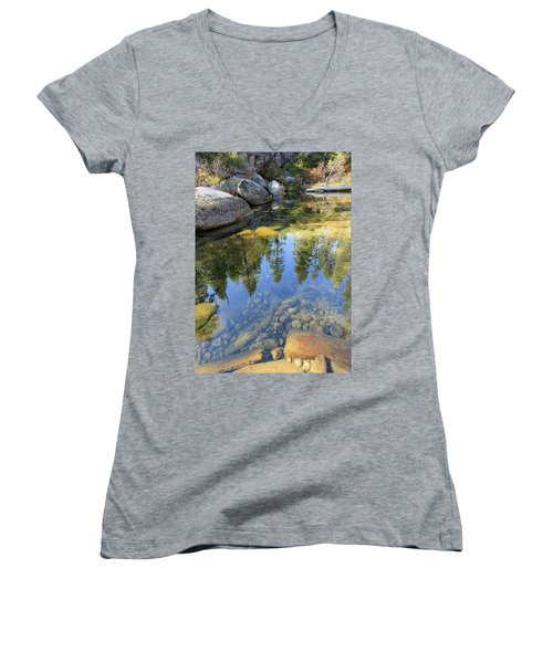 Magic Light On Big Silver Women's V-Neck (Athletic Fit)