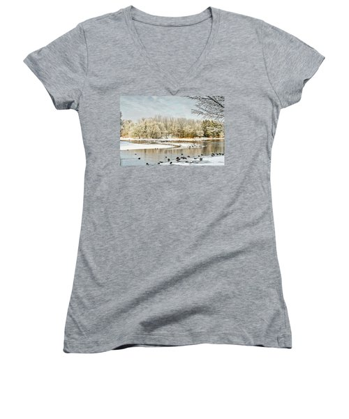 Magic Of Winter Women's V-Neck (Athletic Fit)