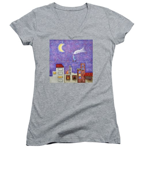 Magical Night Women's V-Neck (Athletic Fit)