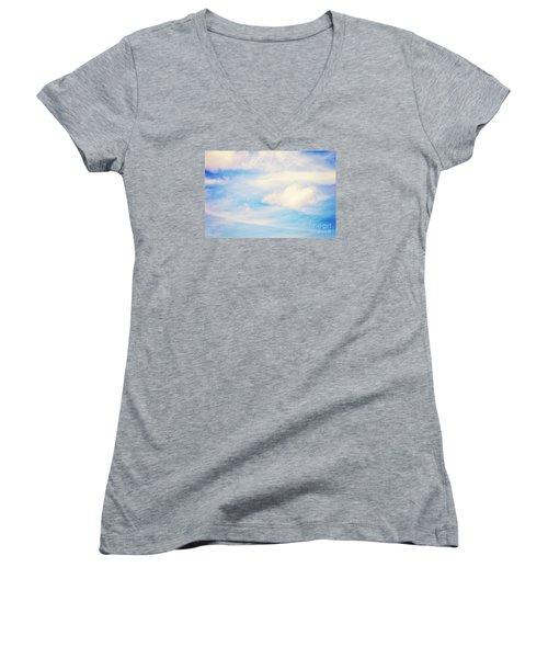 Women's V-Neck T-Shirt (Junior Cut) featuring the photograph Magical Sky Part 1 by Janie Johnson