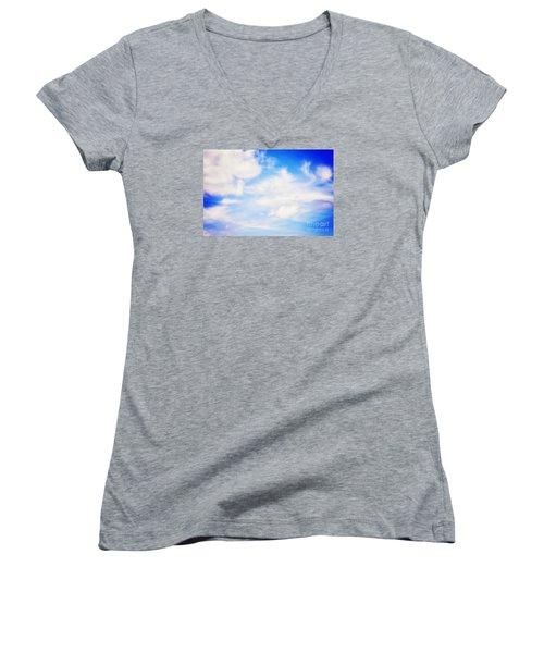Women's V-Neck T-Shirt (Junior Cut) featuring the photograph Magical Sky Part 2 by Janie Johnson