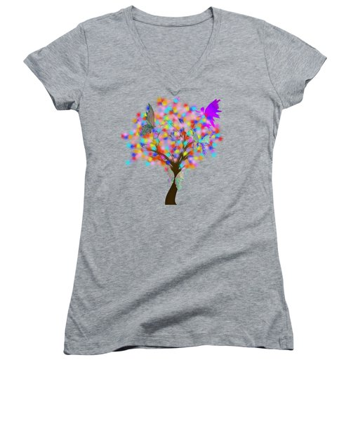 Magical Tree - Digital Art Women's V-Neck