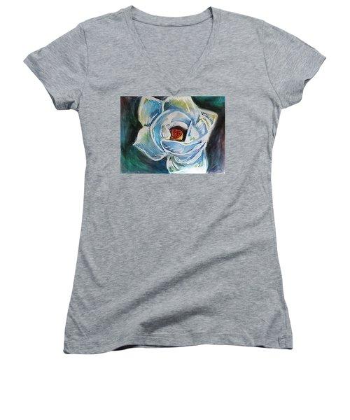 Magnolia 3 Women's V-Neck T-Shirt (Junior Cut) by Loretta Nash