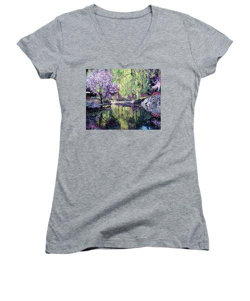 Magnolia Blossoms Women's V-Neck