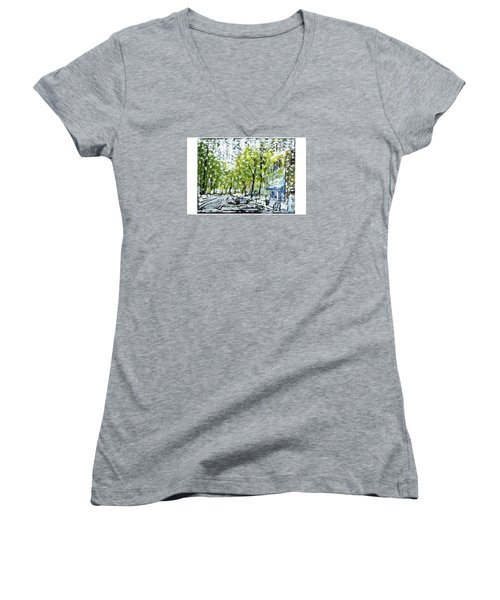 Main Street Snow Women's V-Neck T-Shirt