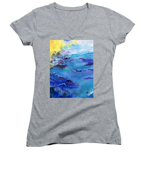 Maine Coast, First Impression Women's V-Neck (Athletic Fit)