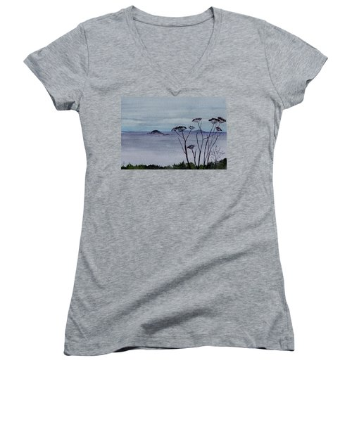 Maine Moody Distance Women's V-Neck T-Shirt
