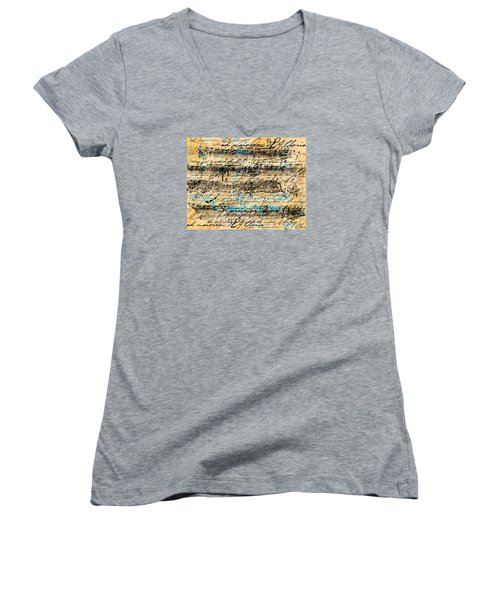 Maiorem Women's V-Neck T-Shirt (Junior Cut) by Gary Bodnar