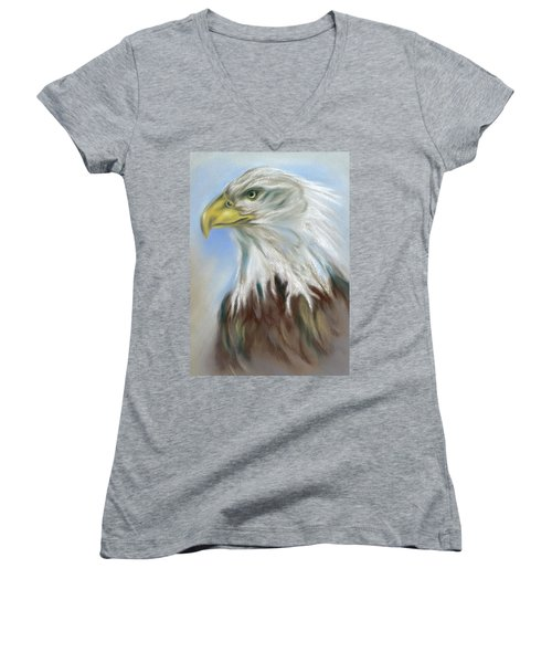 Majestic Bald Eagle Women's V-Neck
