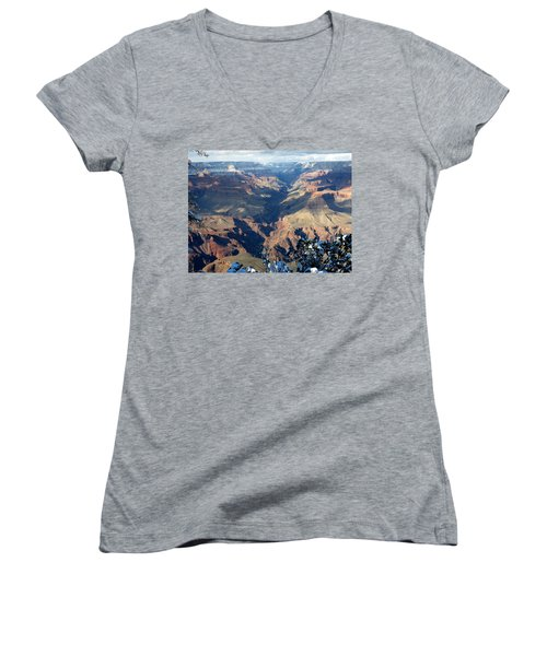 Majestic Grand Canyon Women's V-Neck T-Shirt (Junior Cut) by Laurel Powell