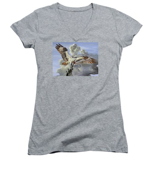 Majestic Sea Hawk Women's V-Neck T-Shirt