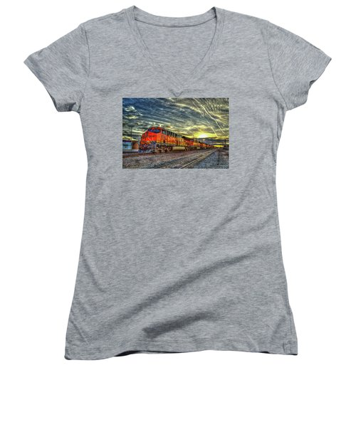 Make Way Resting B N S F Train Gallup New Mexico Art Women's V-Neck