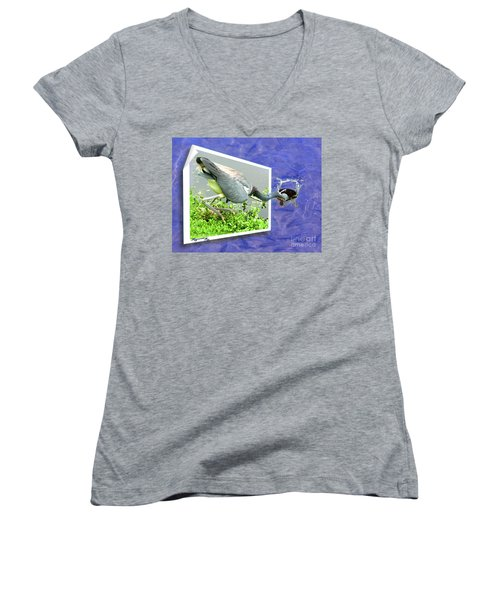 Making A Splash Women's V-Neck T-Shirt